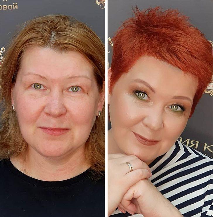 Магия макияжа и прически: 10 женщин в возрасте, которые преобразились до неузнаваемости