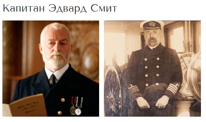 Как выглядели реальный пассажиры «Титаника», которых сыграли похожие на них актеры