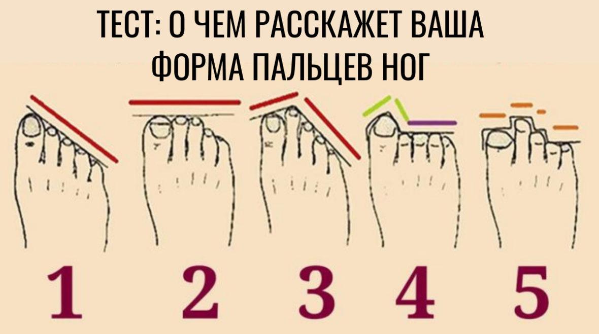 Тест: О чем может рассказать форма пальцев ног. Вы даже не представляете!